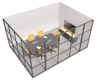 Crittall glazed - 2 sided room