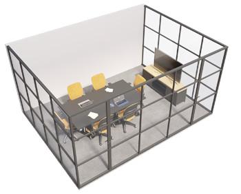 Crittall glazed - 3 sided room