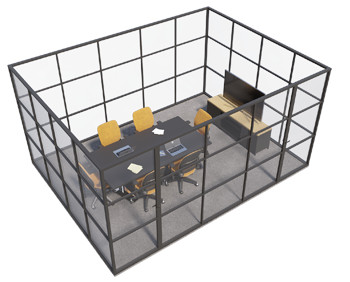 Crittall glazed - 4 sided room
