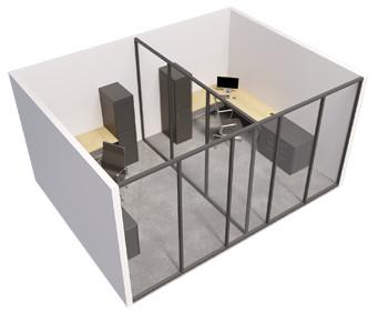 Single glazed - 1 Sided room with internal wall