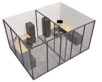 Single glazed - 2 sided room with internal wall