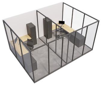 Single glazed - 3 sided room with internal wall