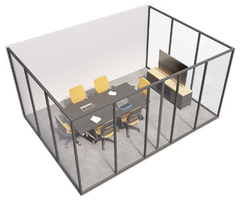 Single glazed - 3 sided room